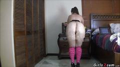 Blonde bbw showing her big ass segment