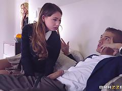 Xander corvus going deep in briana banks and taylor sands