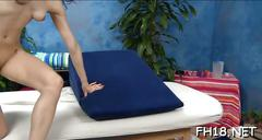 Girl blowing during massage teen feature 3