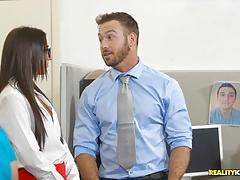 Office fuck with the bosses daughter aubrey rose