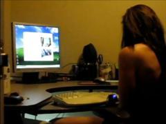 Watching girlfriend have cybersex