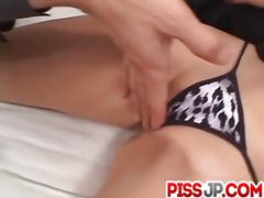 Akane hotaru makes magic with her lips and pussy