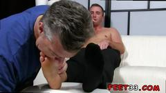 Gay male porn american football first time scott has a new foot slave