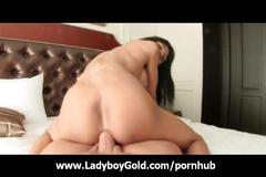 Ladyboy jame thirsty for a dick inside her ass video