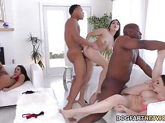 Pornstar babes orgy in the pool