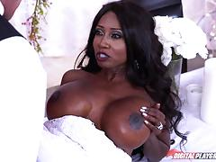 Wedding dress fuck with black babe diamond jackson