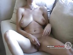 Wife plays with her hot pussy