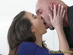 Dane jones brunette sex addict deepthroating and creampie special