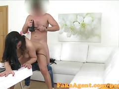 Fakeagent mature amateur takes creampie in office