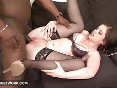 Teen babe loves big black cock