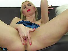 House wife plays with pussy