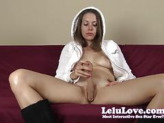 Brunette lelu love masturbating