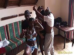 Crazy african sex party orgy