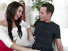 Cute brunette teen cheats on her boyfriend, because she needs sperm