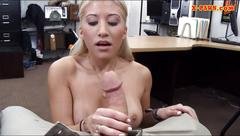 Busty stripper pawns her twat and boned at the pawnshop