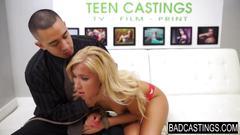 Blonde hot teen is forced hardcore