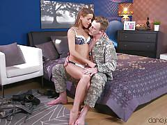 blonde, babe, pov blowjob, eating pussy, soldier, big dick, undressing, dane jones, sexy hub, alexis crystal, luke hardy, cage jordi
