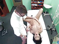 Hot nikole is fingered by the horny doctor
