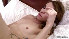 Horny shemale babe jessy dubai moans loud as she fucks brendan patrick straight ass movie
