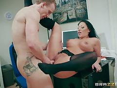 Office pussy pounding orgasms with candy caine