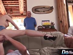 Blonde wife aimee takes cock as husband watches