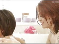 Lesbian seduce girl in bath