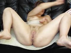 Milf fucks pussy with huge brutal dildos
