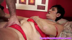 Chubby grandma fucked after oral pleasure