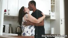 Granny gets interracial