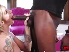 hardcore, e, busty, blonde, hot, tattoo, lingerie, doggystyle, cowgirl, cumshot, interracial, bbc