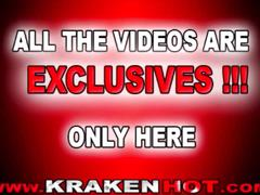 Krakenhot - bdsm girl big tits, public nudity in the street