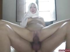 American cock splits arab woman