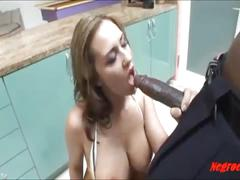 cum, asshole, black, big, cock, girl, tattoo, white, mouth, dirty, and, her, taking, negro