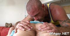 Steamy hot gay massage blowjob film 1