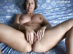 Unbelievable french milf masturbates on cam