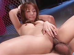 Asian bounces on this hard cock