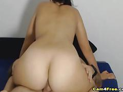 Nerdy babe riding hard cock