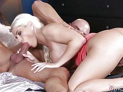 Busty babe rides a hard dick in reverse cowgirl