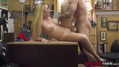 A hardcore fuck in the pawnshop with busty babe skyla novea