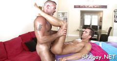 Deep anal pleasuring sex