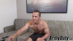 Gym freak tyler marshall enjoys his solo wanking time