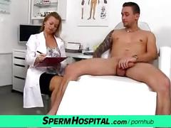 Cfnm medical handjob fetish with czech milf denisa