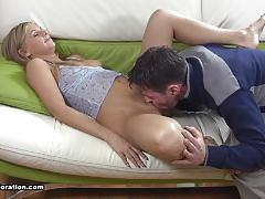 Sexy bonde girl natasha likes to try new thing