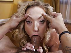 blonde, babe, deepthroat, cumshot, big dick, saliva, ball sucking, pov, throated, myxxxpass, zoey parker