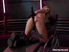 Claudia claire gets covered in cum