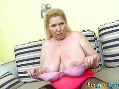 Czech mature star solo with big boobs