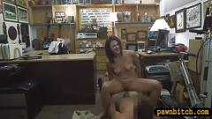 Perky tits woman gives head and nailed by pawn keeper