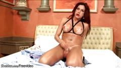 hd, masturbation, redhead, solo, tattoo, tranny, boots, leather, lotion, piercing