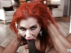 milf, handjob, interracial, redhead, big cock, deepthroat, tit job, big breasts, point of view, throated, myxxxpass, isiah maxwell, savana styles