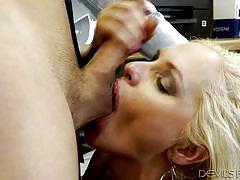 Crazy sex on the working place @ big tit office chicks